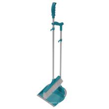 Hersteller Großhandel Kunststoff Reinigung Kehrschaufel und Pinsel Set langen Griff