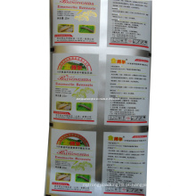 Película de empacotamento do inseticida plástico / película de empacotamento do insecticida