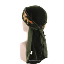 Stickerei benutzerdefinierte Haarschmuck Bandanas muslimischen Turban