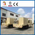 Arched metal roof building machine