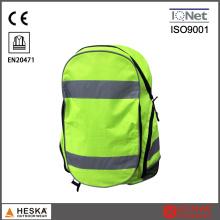 Wholesaled promocional Oi Vis amarelo aviso mochila reflexiva da segurança
