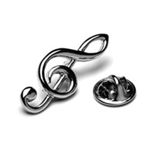 Treble Clef Tie Pin atau Lapel Badge