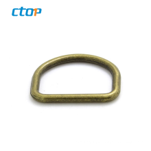 High quality plated metal D shape stainless steel d ring for handbag metal ring D buckle ring