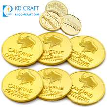Made in china cheap blank metal stamping embossed 3d gold plated personalized custom challenge coin for souvenir