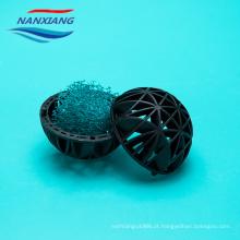 Bola de enchimento bio suspendida plástico para o tratamento de águas residuais