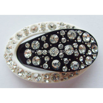 Black&White Color Rhinestone Shoe Clips, Acrylic Rhinestone Buckle