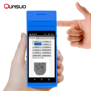 Handheld Fingerprint scanner PDA dengan printer