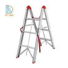 Escalera plegable pequeña escalera de escalera telescópica de aluminio para el hogar