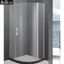 Aokeliya one sliding shower glass door frameless swing custom  hardware black glass