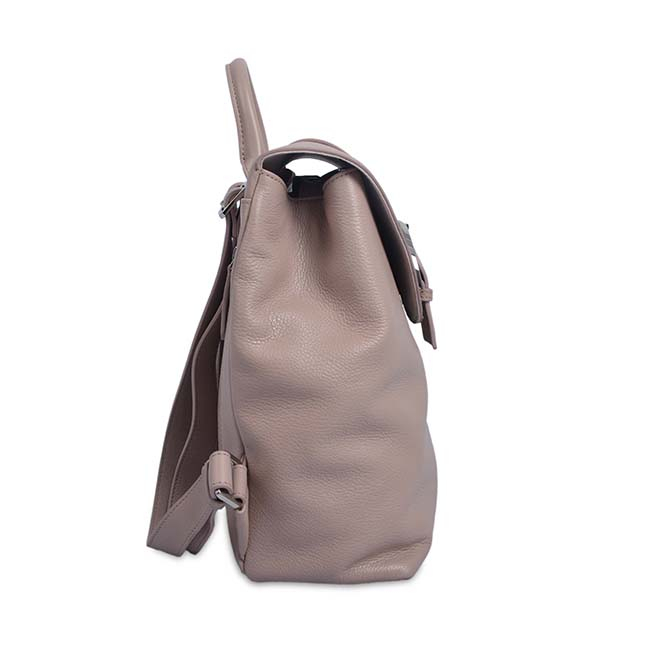 cowhide leather laptop classical vintage backpack for woman