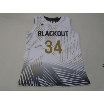 Maillot de basket-ball imprimé par sublimation