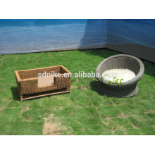 2014 hot sale latest design garden rattan cheap dog house burn cages