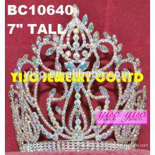 Princesa ab rhinestone tiara cabeça desgaste diamante tiara de casamento