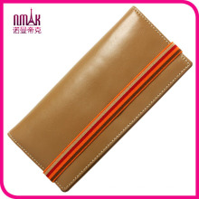 Classic Handmade 100% Genuine Natural Leather Wallet Case Flip Protective Case with Elastic Strap