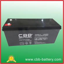 Bateria AGM de ciclo profundo com ácido solar livre de manutenção 12V200ah