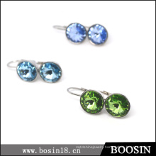 Very Beautiful Blue Crystal Earrings at Factory Price Wholesale #21712