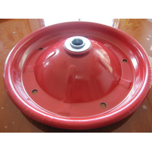 3.00-8 Gummirad Rote Stahlfelge für Schubkarre