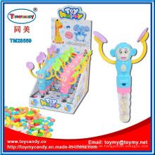 Plastiktrommel-Affe-Tierspielzeug mit Süßigkeit