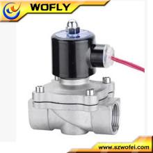 Válvula de solenóide do distribuidor de água de aço inoxidável AC220v / DC24v 12v