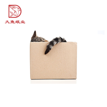 Customized size multifunctional square corrugated folding paper box pattern
