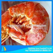 Le fournisseur chinois de fruits de mer fournit des crevettes séchées congelées de taille différente à bas prix