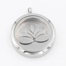 Original usine Lotus huile diffuseur médaillon pendentif pour bijoux de collier de mode