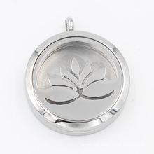 Original Factory Lotus Oil Diffuser Locket Pendant for Fashion Necklace Jewelry