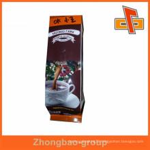 Aluminum plastic lining kraft paper coffee bags with valve