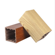 2021 new interior 100x100mm WPC Timber Tubes for indoor design from factory