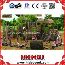 ASTM Standard Wood Color Plastic Playground Outdoor com Slide