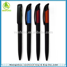 Hot sale promotion black plastic pens with customized logo