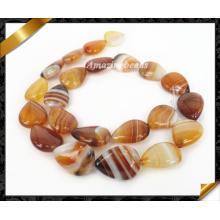 Бусины драгоценного камня натурального агата, ювелирные изделия из агата агата с полосками кофе (AG005)