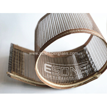 Heat resistant PTFE open mesh conveyor belt