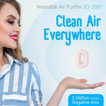 Purificador de aire para collar usable