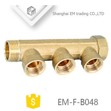 "EM-F-B048 Rosca Tubo colector de latón de 3/4 """