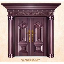 Imitar puertas dobles de latón