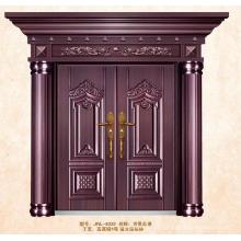 Imitar latão portas duplas de aço