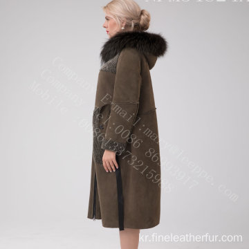 호주 메리노 Shearling Long Coat in Winter