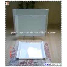 Ferramenta de cozinha retangular cerâmica placa de cozimento plana conjunto