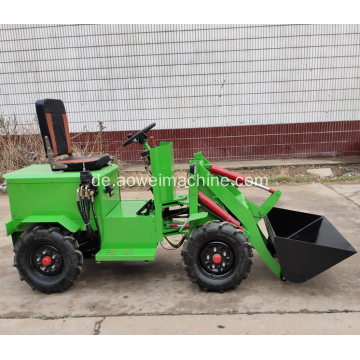 China 1000kg 1 Tonne Mini kleiner elektrischer Farmradlader