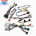 arnés de cableado estéreo de automóvil y conjunto de cable de audio
