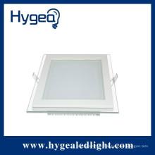 12W super brillant, lumière de panneau de verre led