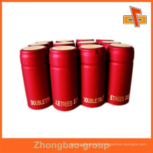 Heat sensitive water proof customizable tamper evident shrink bands with printing