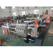 Two-stage single screw waste used plastic recycling line