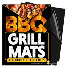 High Quality 2pcs Reusable Chef  Non-Stick Barbecue Supplies ptfe bbq grill mats for gas charcoal electric grills