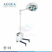AG-LT010A-1 Vertical hospital movable clinic therapy exam room with battery stand lamp on wheel