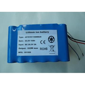 Factory customized 22.2V 10Ah li-ion battery pack