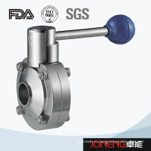 Сварной клапан-бабочка из нержавеющей стали с коротким торцом (JN-BV5001)