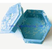 Luxo octagon embalagem papel caixa de presente