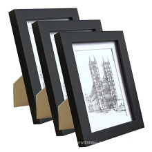 Australia beautiful 5x7 black wood wholesale custom Picture photo Frame for Made to Display Pictures